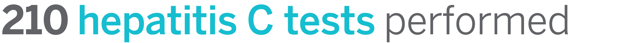 210 hepatitis C test performed